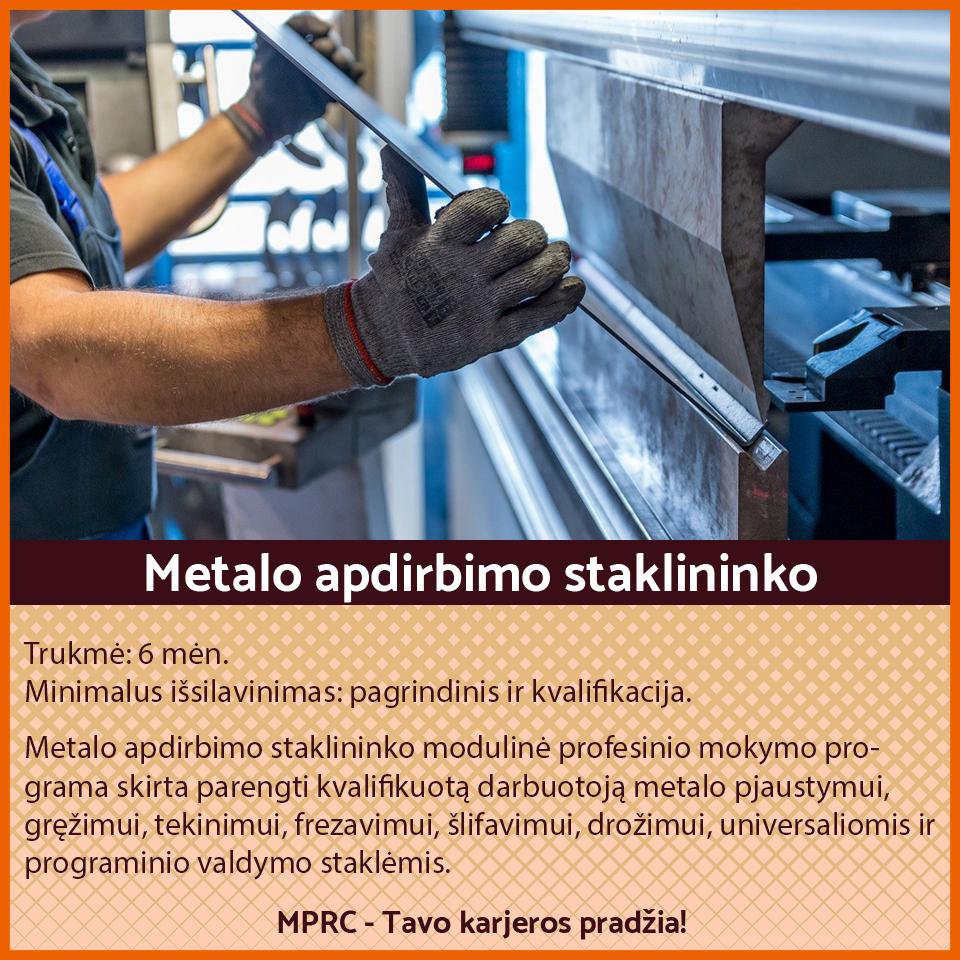 Metalo apdirbimo darbų vadovas (-ė)