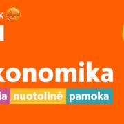 """Kudirkos Naumiesčio skyriaus mokiniai dalyvavo didžiausioje nuotolinėje pamokoje """"Mokonomika"""""""