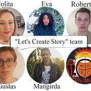 """Dalyvaujame anglų kalbos respublikiniame internetiniame projekte """"Let's Create a Story"""""""